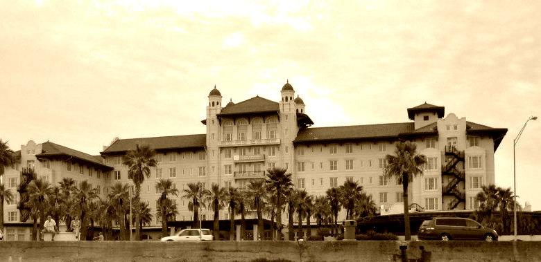 Hotel Galvez in Sepia