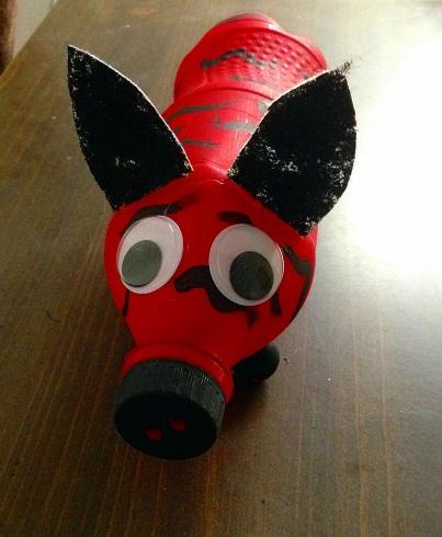 Water bottle animal craft2