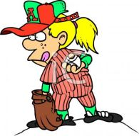 0511-0810-3119-1754_Cartoon_of_a_Tomboy_Playing_Baseball_clipart_image
