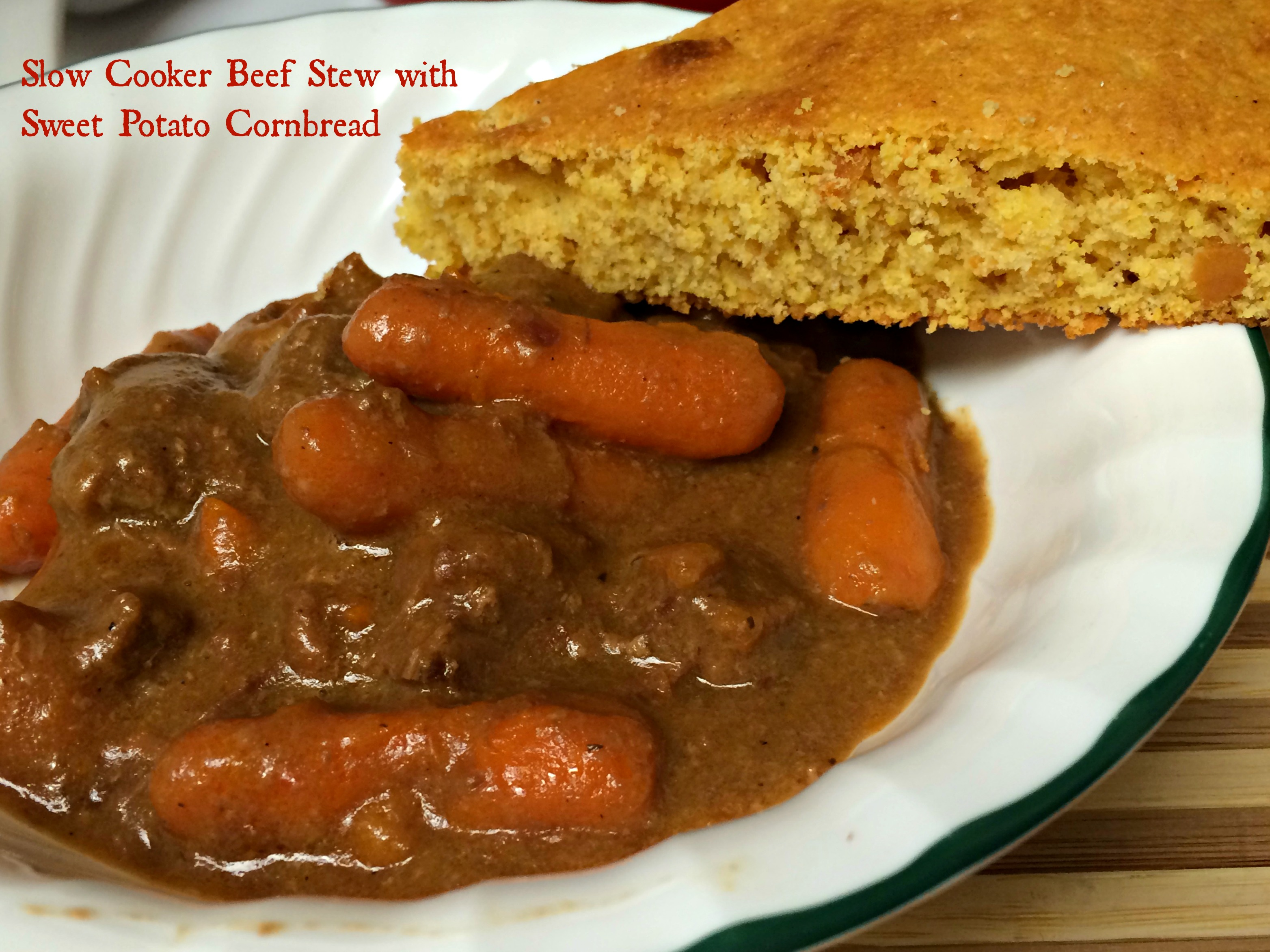 Slow Cooker Beef Stew with Sweet Potato Cornbread | Arl's World