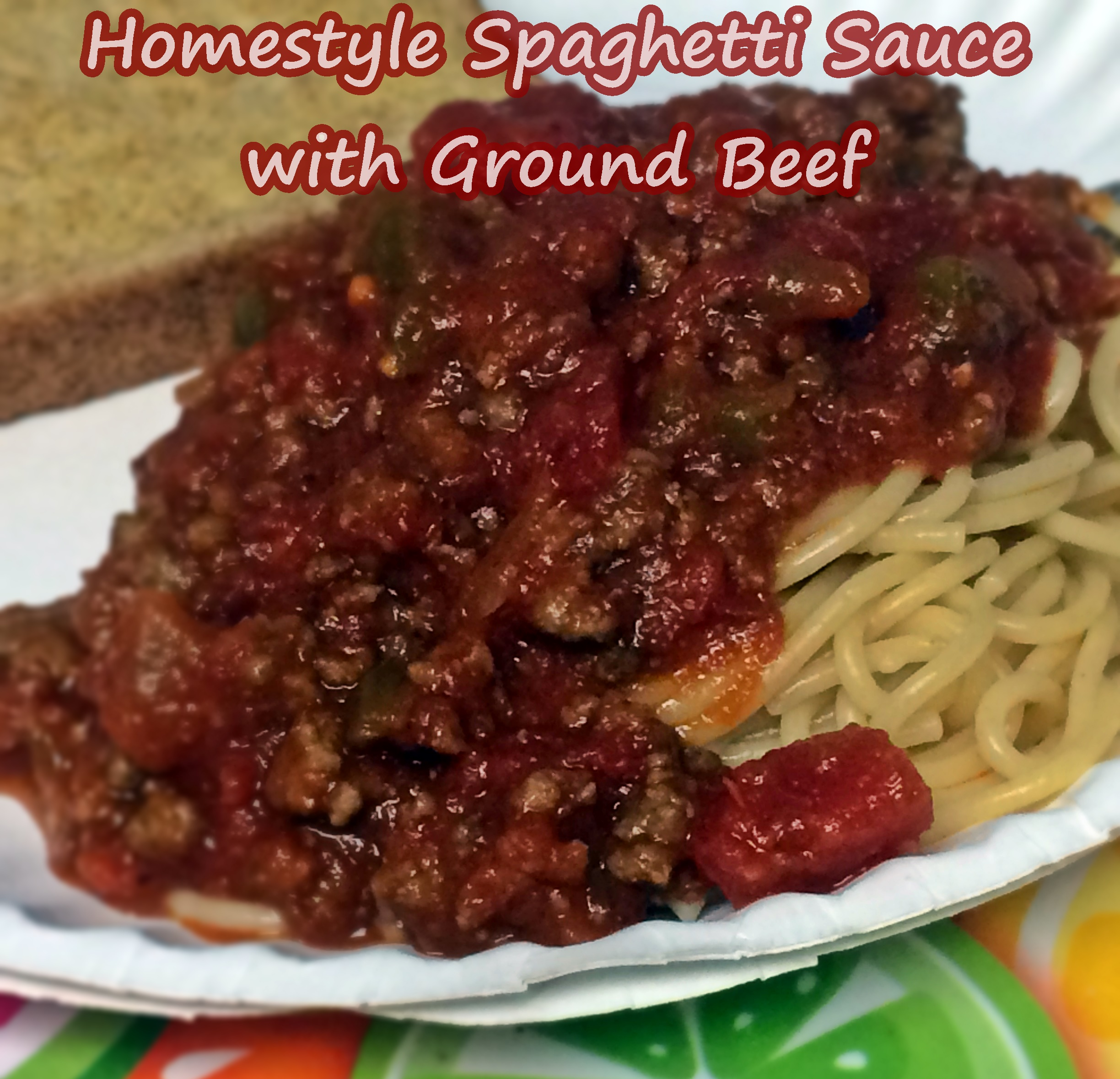 Homestyle Spaghetti Sauce With Ground Beef