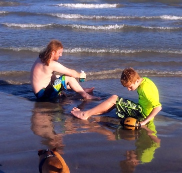Brent and Tyler at Surfside Beach