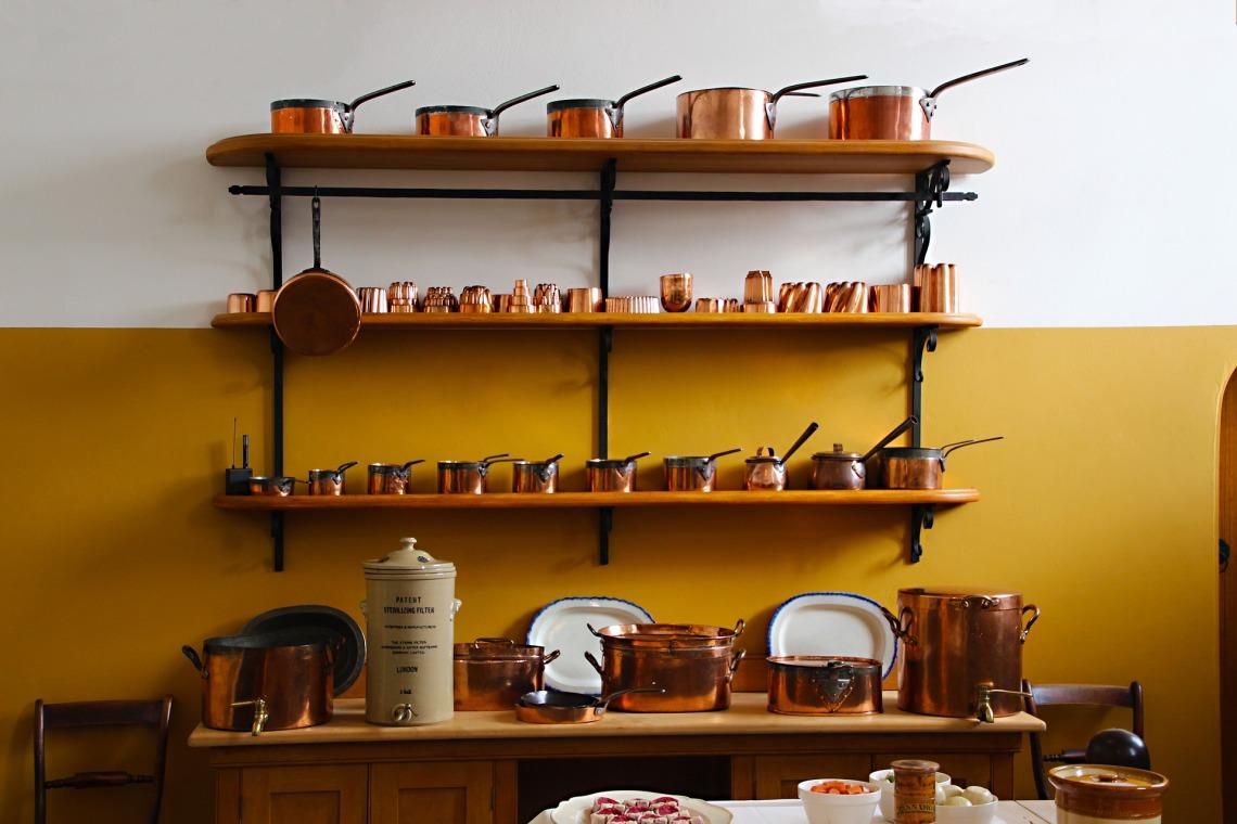 exposed shelves
