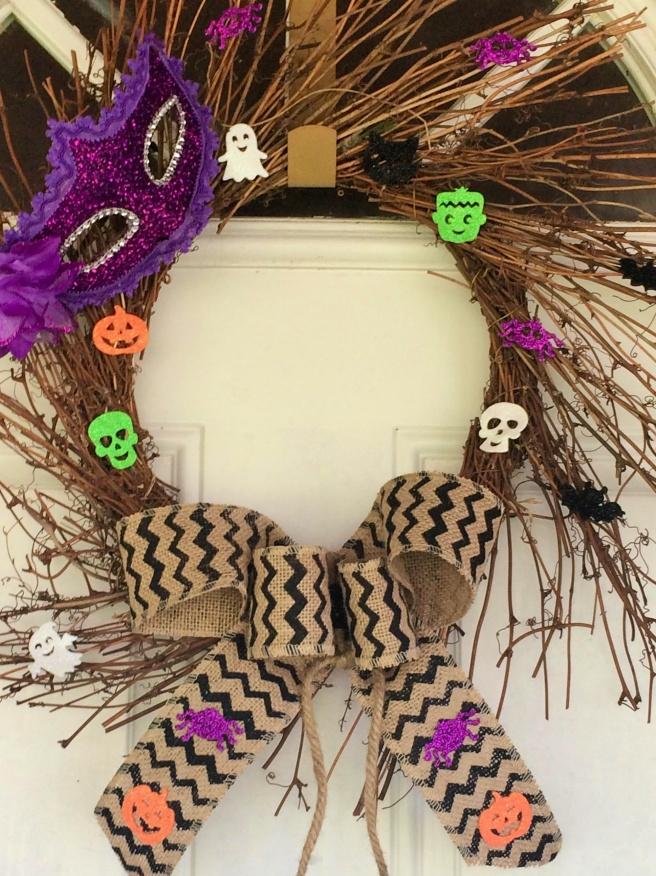 DIY Halloween wreatha (1)